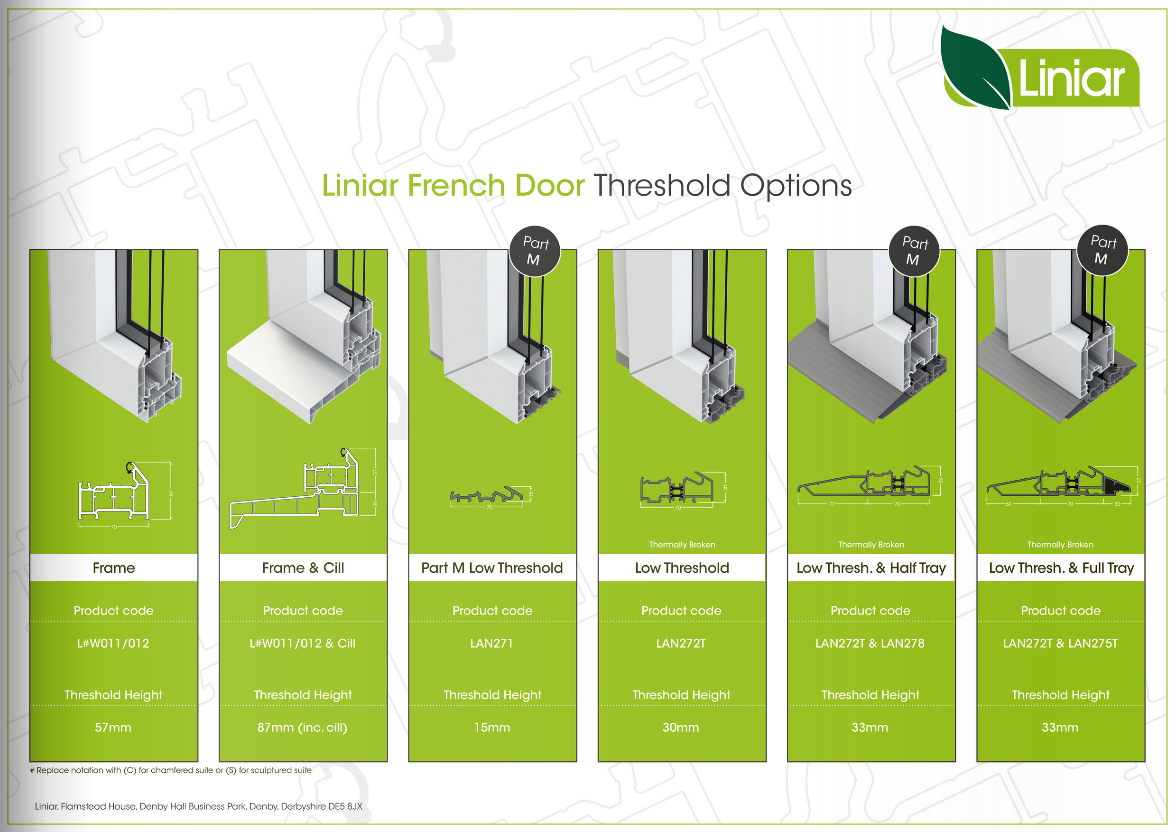 Liniar French Door Threshold Options